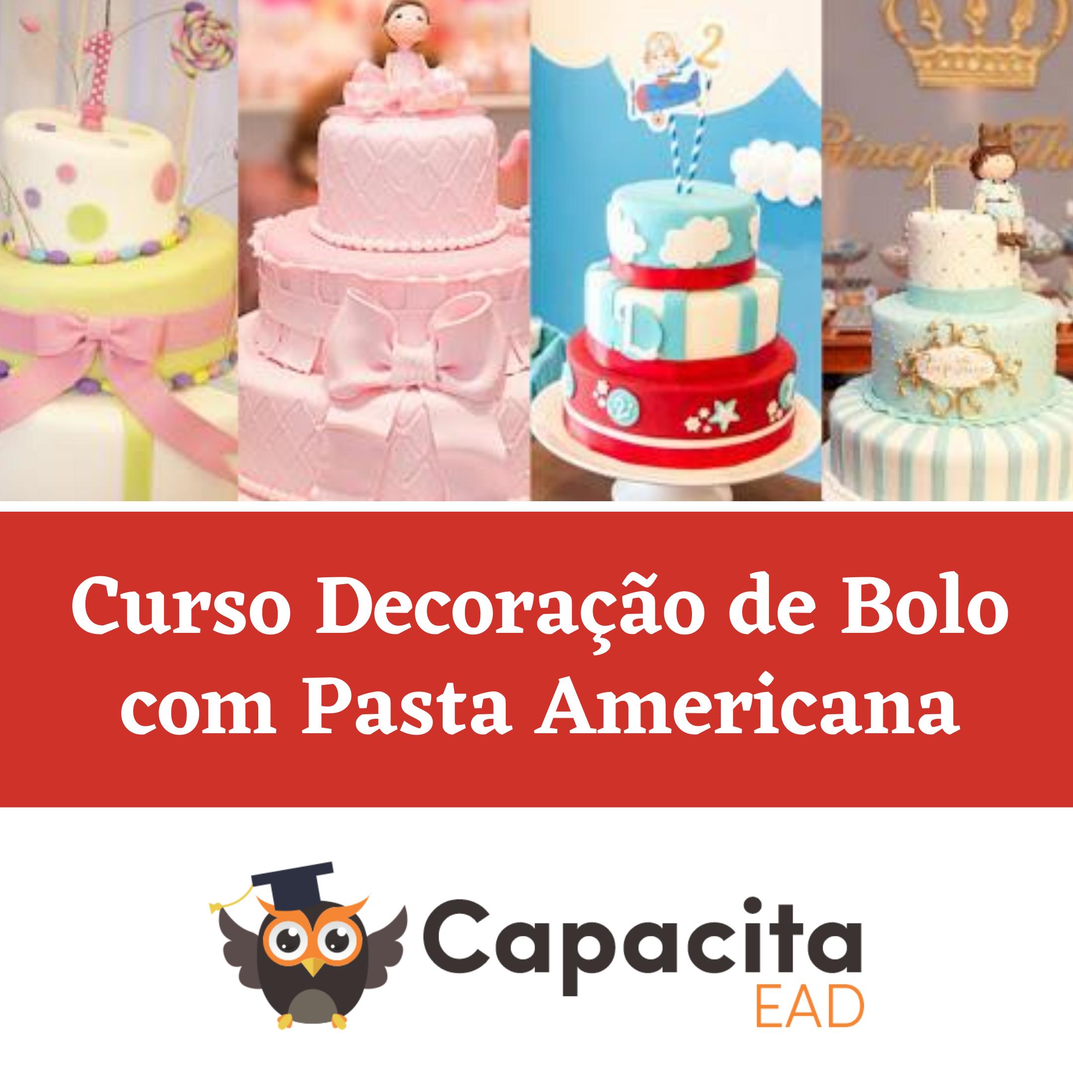 Curso Decoração de Bolo com Pasta Americana
